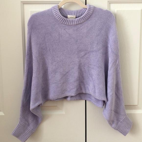 Aritzia: WILFRED Mimi sweater in lavender